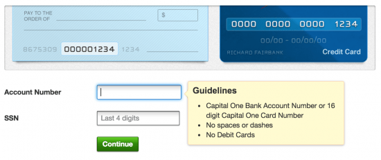 Pay My Capital One Credit Card
