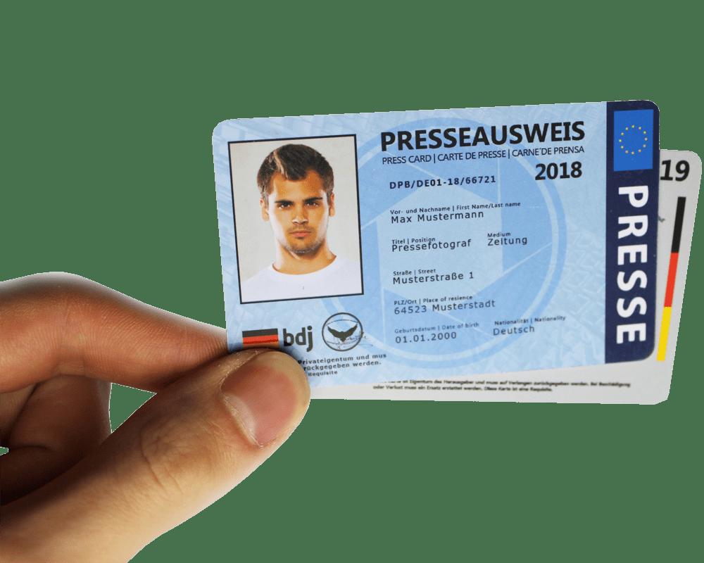 presseausweis ohne nachweis