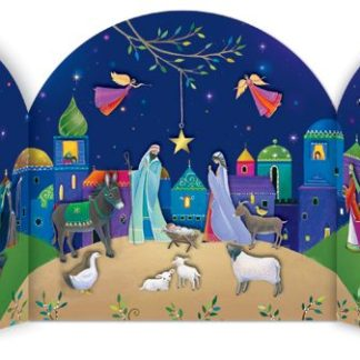 Bethlehem advent calendar traditional German style advent calendar Phoenix Trading cards traditional advent calendar