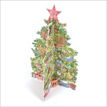 'Traditional Christmas Tree advent calendar with pop out pieces to insert each day. Code ADV33 traditional advent calendar