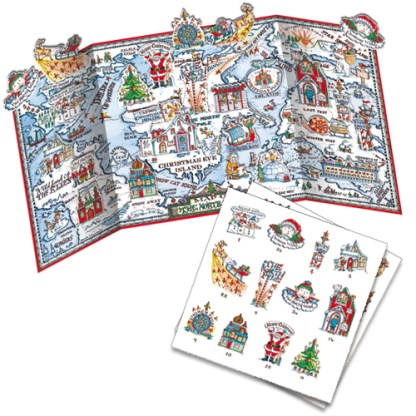 Map of the North Lands advent calendar with pop out pieces to insert each day. Code ADV35traditional advent calendar
