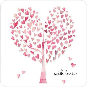 With Love heart tree Valentines