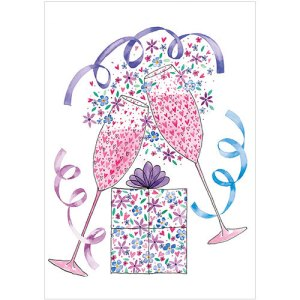 A260 pink champagne card