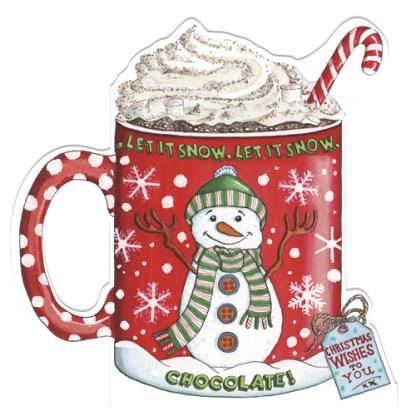 hot chocolate christmas cards