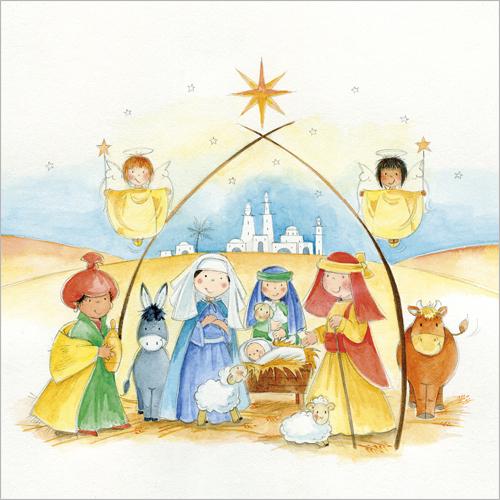 little nativity christmas cards - Nativity Christmas Cards