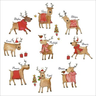 Rudolph and Friends Christmas Cards
