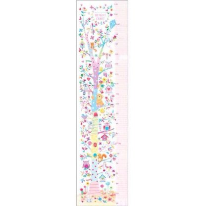 girls height chart pink