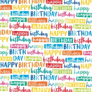 Painted happy birthday gift wrap
