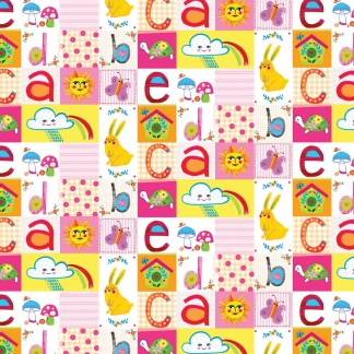 patchwork pink gift wrap
