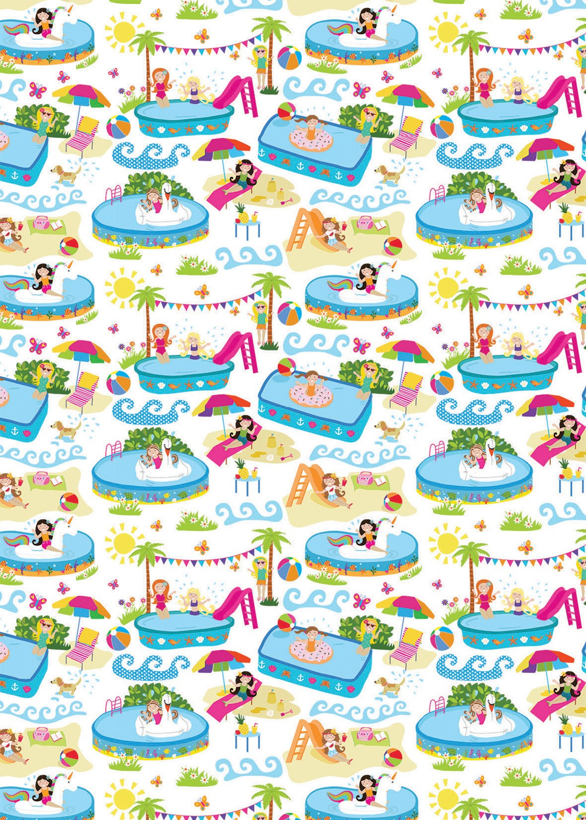 Pool Party Gift Wrap