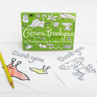 colour in thank you postcards