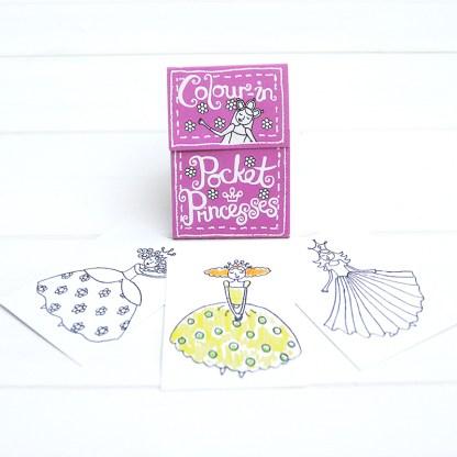 pocket colouring books princesses