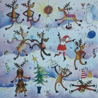 Reindeer advent calendar card