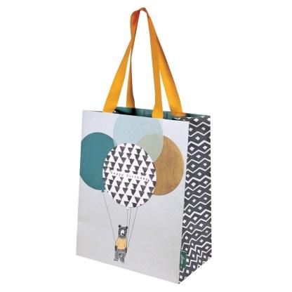 Stop the clock birthday bear gift bag
