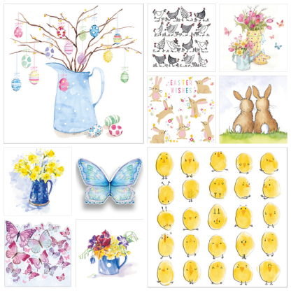 Easter card selection