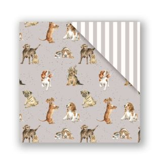 woof double sided gift wrap