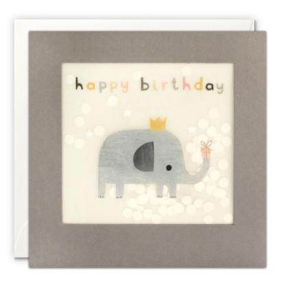 Happy Birthday Elephant Shakies Card details