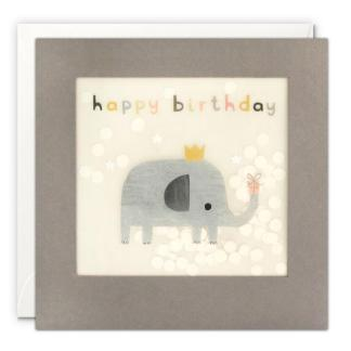 Happy Birthday Elephant Shakies Card details