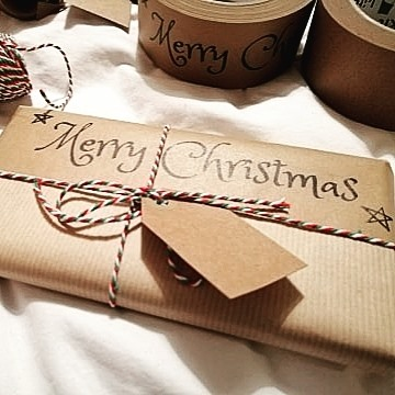 Merry Christmas kraft paper tape