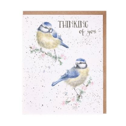 'Bluetits' thinking of you card
