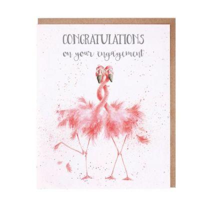 'Flamingo Together' Engagement Card