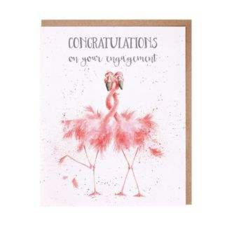 'Flamingo Together' Engagement Card