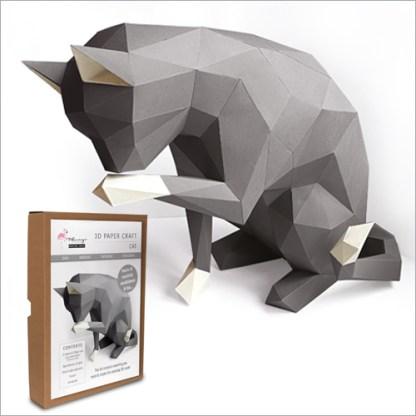cat papercraft kit