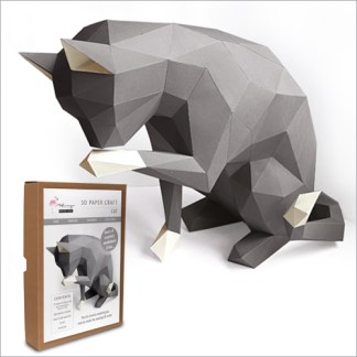 cat papercraft kit