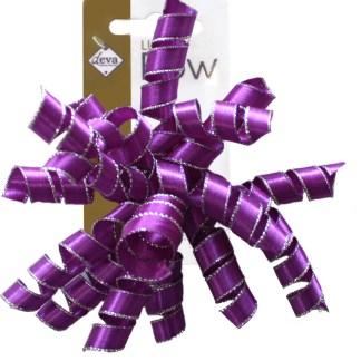 purple curlies bow