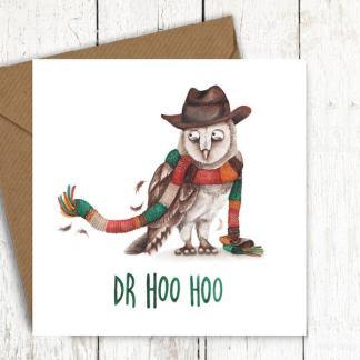 Dr Hoo Hoo Dr Who owl card