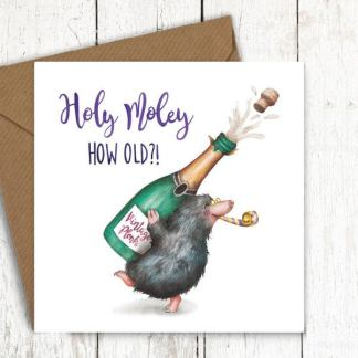 Holey moley mole birthday card