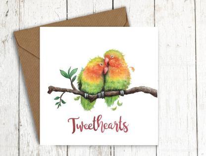 Tweethearts bird card