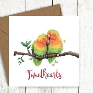 Tweethearts bird card