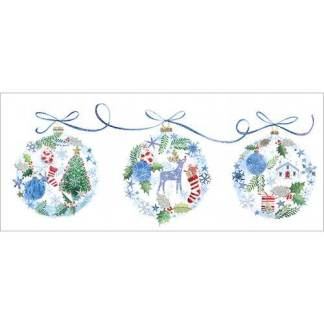 Three Baubles Christmas Cards
