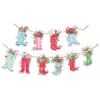 Festive Wellies Bunting