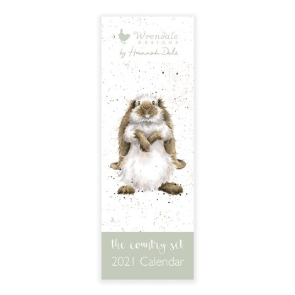 Wrendale Country Set Slimline Calendar 2021
