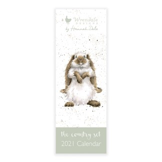Wrendale Country Set Slimline Calendar 2021