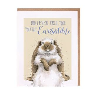 Wrendale Earisistible rabbit card
