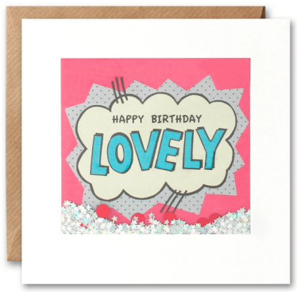 Happy birthday lovely shakies card