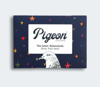 Dark skies pigeon folded letters