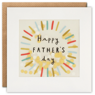 Fathers Day Colourful Circle Card