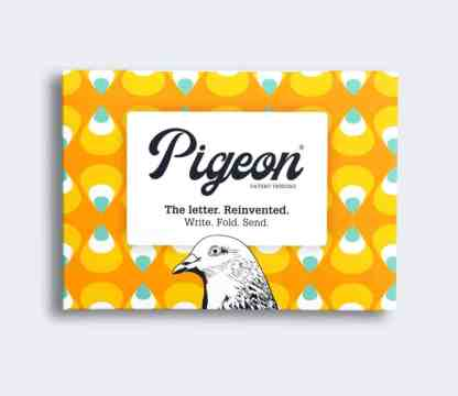 Pencil folded pigeon letters