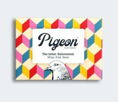 Urban pigeon folded letters