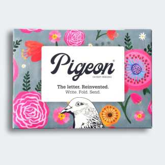 Wildflower pigeon folded letters