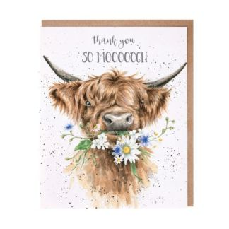 Thank you so moooch cow card