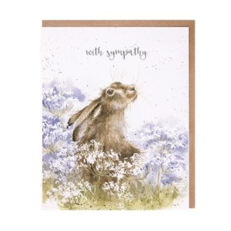 Here for You hare sympathy card