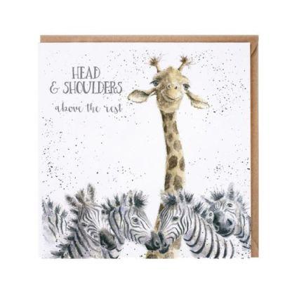 Head and shoulders safari card