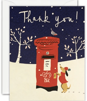 Thank you Postbox Dog notelets
