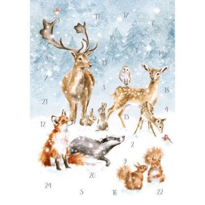 A Winter Wonderland Advent Calendar Card