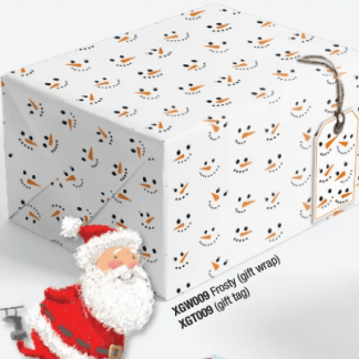 Frosty gift wrap